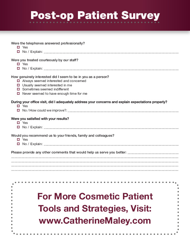 Post-Op Patient Survey 2020