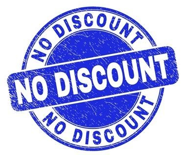 no discounting